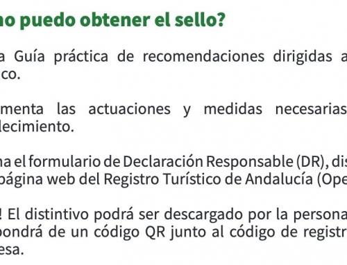 El sello 'Andalucía Segura' se puede solicitar desde el lunes 1 de junio