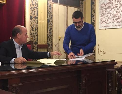 El Ayuntamiento de Antequera renueva su convenio de colaboración anual con la ACIA en otra clara apuesta en apoyo del comercio local