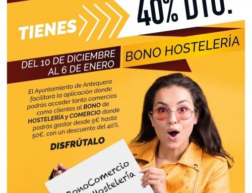 Abiertas las inscripciones para bares y comercios que deseen participar y canjear los cupones de las campañas de Bono Comercio que promueve el Ayuntamiento de Antequera